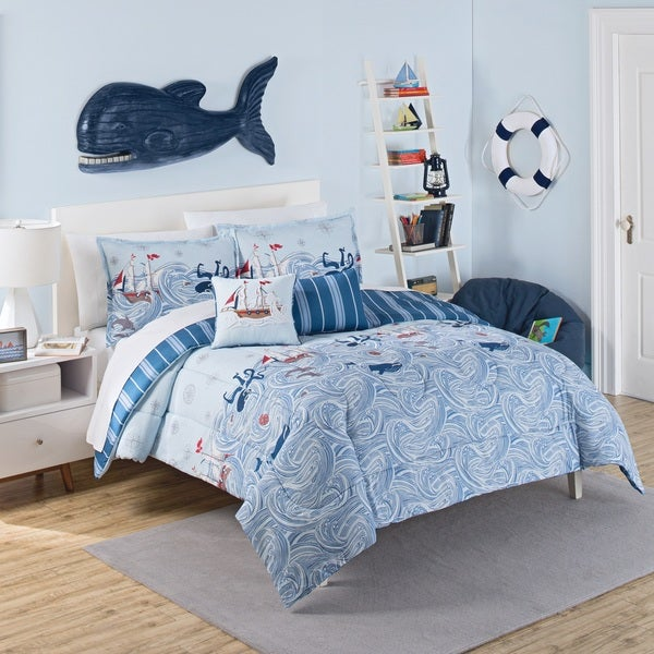 Waverly Kids Ride the Waves Reversible 3-piece Comforter Set