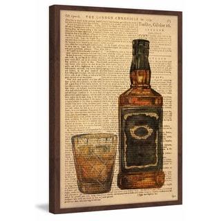'Black Label Bourbon' Framed Painting Print