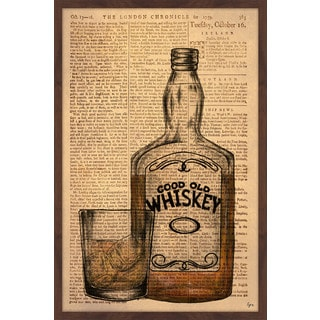 'Whiskey on the Rocks' Framed Painting Print