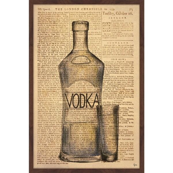 'Frozen Vodka II' Framed Painting Print