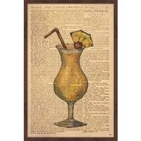 'Pina Colada Time' Framed Painting Print