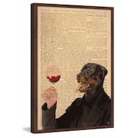 'Wine Connoisseur' Framed Painting Print