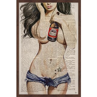 'Beer & Girls II' Framed Painting Print
