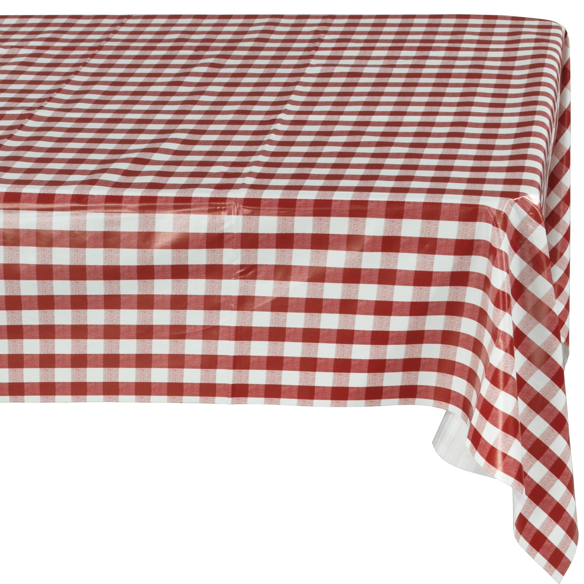 Ottomanson Vinyl Red Checkered Design Indoor and Outdoor ...