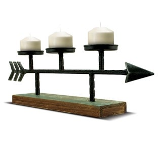 American Art Decor Metal Arrow Candle Holder Farmhouse