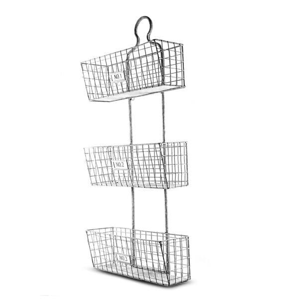 Shop American Art Decor Three Tier Storage Wire Baskets Wall