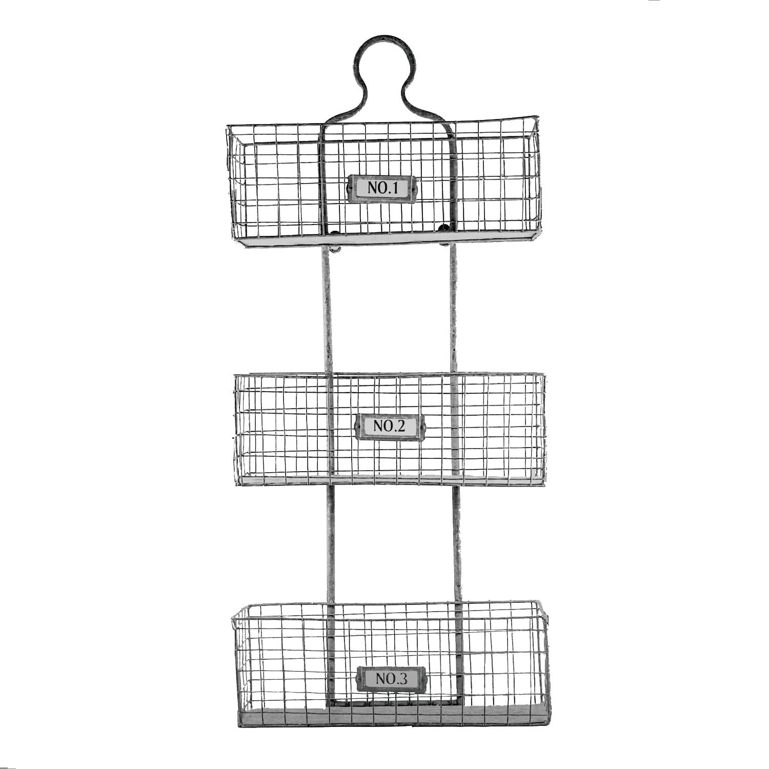 American Art Decor Three Tier Storage Wire Baskets Wall Hanging Or Free Standing Overstock 16077609