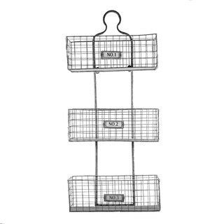 Three Tier Storage Wire Baskets Wall Hanging or Free Standing
