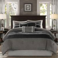 Madison Park Porter Black/ Grey Full Size Comforter Set  (As Is Item)