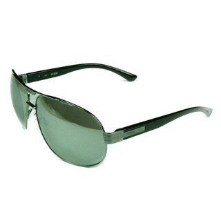 Guess Fashion Men's GF0155 08C Silver w/ Mirrored Grey Lens Sunglasses