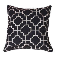 Tonianne Embroidered Geo Throw Pillow