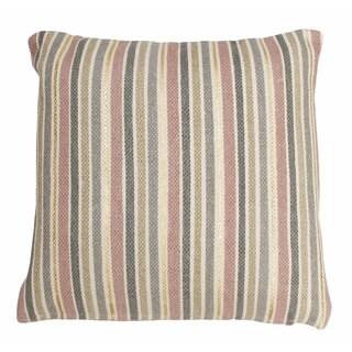 Thro Susana Multicolor Cotton 20-inch Square Striped Foil Printed Throw Pillow