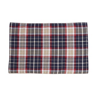 HiEnd Accents South Haven Blue Plaid Cotton/Polyester 14-inch x 20-inch Place Mat with Rope Detail (Set of 4)