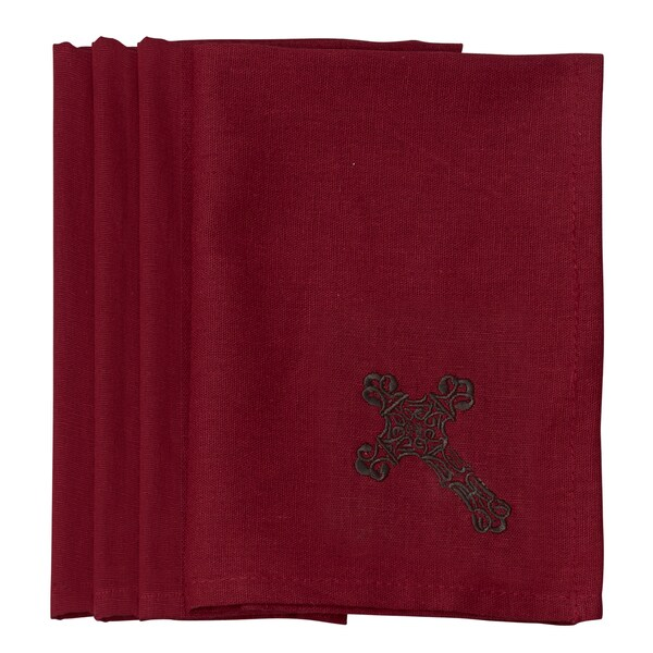 HiEnd Accents Cross Napkin (Set Of 4)