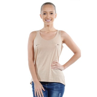Ladies Tank Top with Button Detail