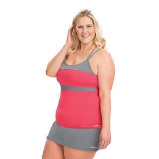 Dolfin Aquashape T-Strap Pink and Grey Tankini Top