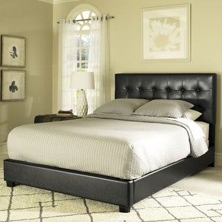 Andover Black Tufted King Bed