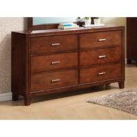 LYKE Home Wooden 6-Drawer Dresser