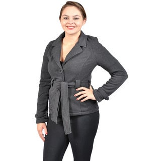 Women's Soft and Comfy Belted Blazer with Fleece Lining