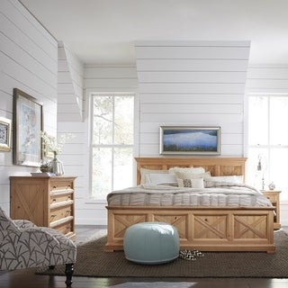 Country Lodge King Bed, Night Stand & Chest - Honey