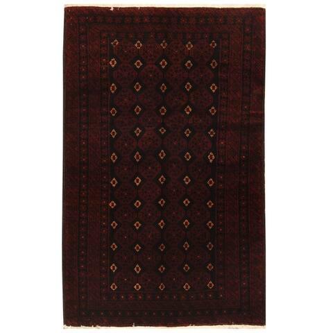 Handmade One-of-a-Kind Balouchi Wool Runner (Iran) - 3'5 x 5'4