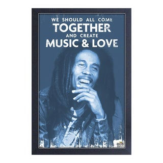Bob Marley - Music & Love - Framed 11x17 print