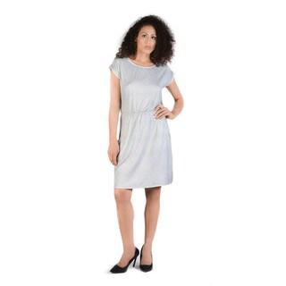 Bluberry Women's Henrie Light Grey Print Dress