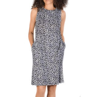 Bluberry Women's  Grey Cheetah print Dress