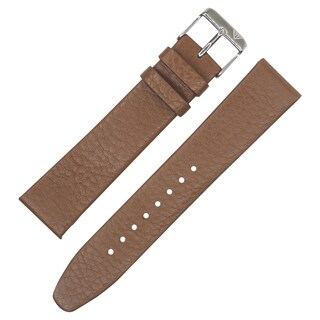 Dakota Tan Geniune Textured Leather with Slim Padding Watch Band (18mm, 20mm, 22mm)