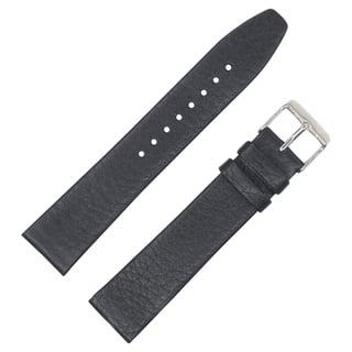 Dakota Black Geniune Textured Leather with Slim Padding Watch Band (18mm, 20mm, 22mm)|https://ak1.ostkcdn.com/images/products/16078971/P22464172.jpg?impolicy=medium