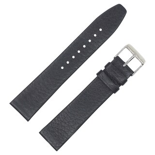 Dakota Black Geniune Textured Leather with Slim Padding Watch Band (18mm, 20mm, 22mm)
