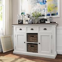 NovaSolo Halifax Mahogany Accent Buffet with 2 Baskets