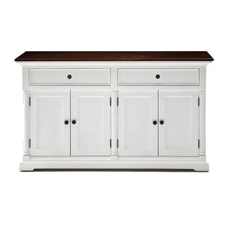 The Gray Barn Lands Deerpark Provence White and Mahogany Accent Buffet