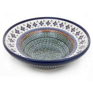 Handmade Stoneware Pasta Bowl (Poland)