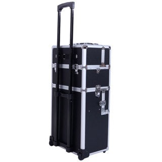 Pro 3-in-1 Aluminum Rolling Makeup Train Case