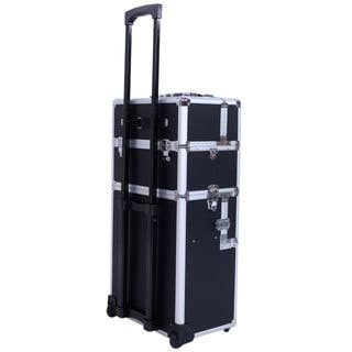 Makeup Cases Shop The Best Deals For Nov Overstockcom - Aluminum trolley case pro rolling makeup cosmetic organizer
