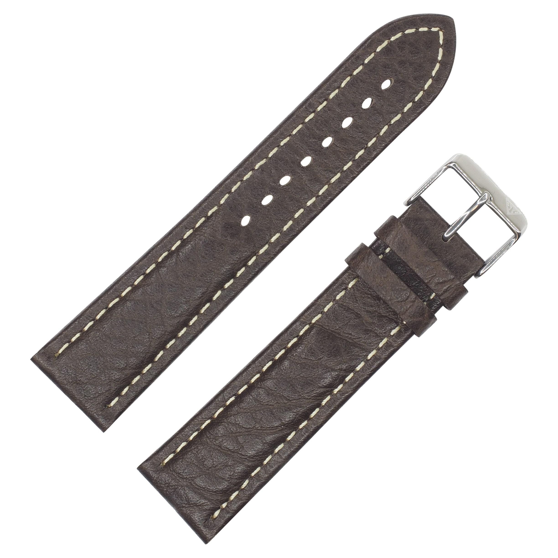 Dakota Brown Sloped Shrunken Leather with Contrast Stitch...