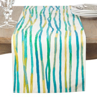 Graphic Art Line Design Cotton Table Runner