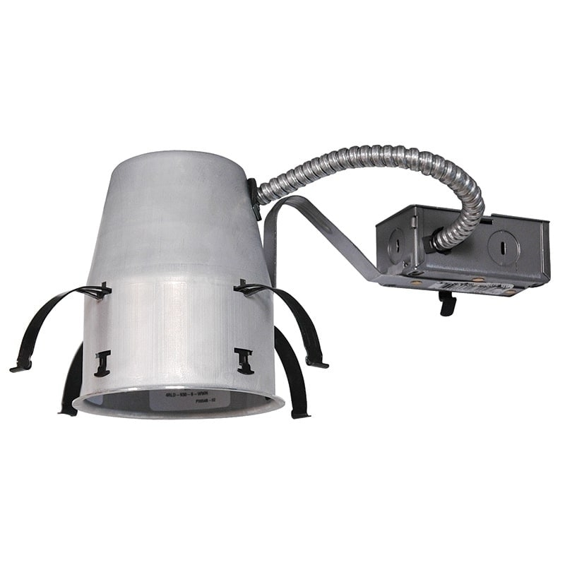 Lithonia Juno Lighting IC1R LEDT24 4-Inch IC rated Remodel Recessed Housing for Juno Basic Retrofits (Aluminum), Silver