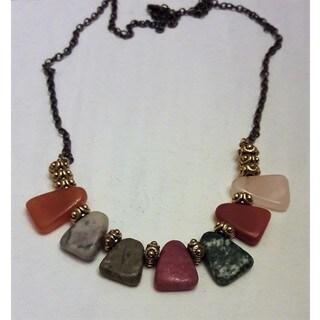 Handmade Mixed Gemstone Necklace (USA)