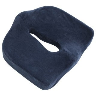 Medical-Grade Sciatica Coccyx Support Cushion  Orthopedic Foam  Lumbar Tailbone Back Support  Seat Cushion, Navy Blue