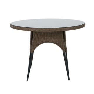 Madison Park Davis Mocha Outdoor Round Table