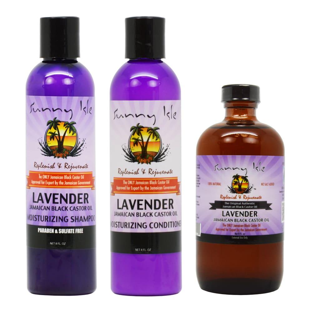 Sunny Isle Lavender (Purple) 8-ounce Jamaican Black Casto...