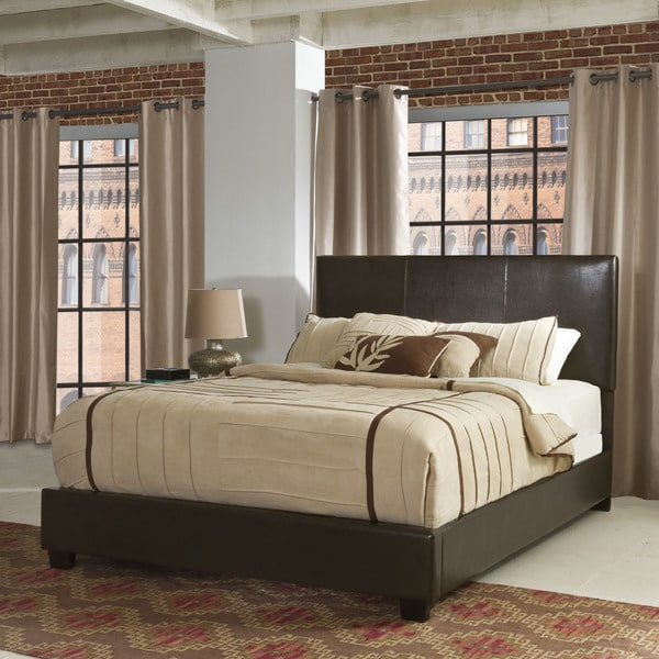 crosley furniture drake brown queen bed