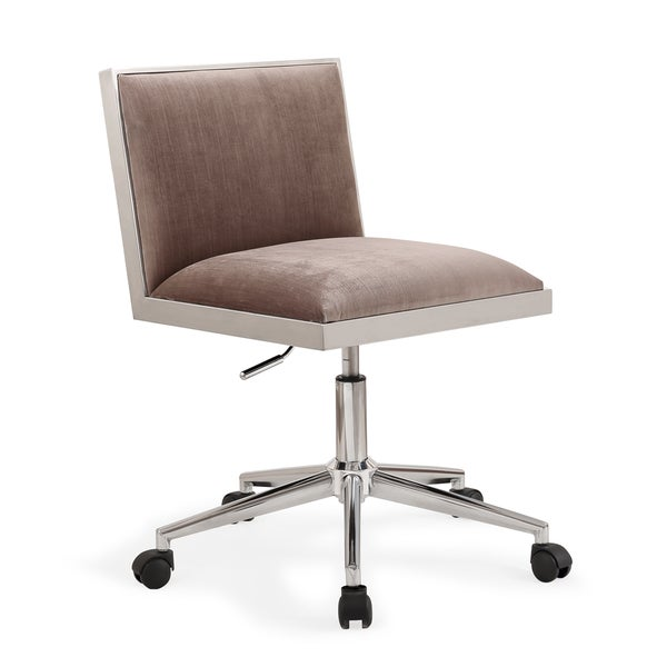 Harper Silver Velvet Office Chair