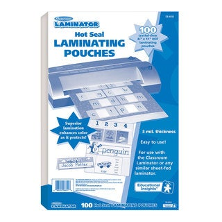 "Educational Insights Classroom Laminator Hot Laminating Pouches, 8.5"" x 11"""