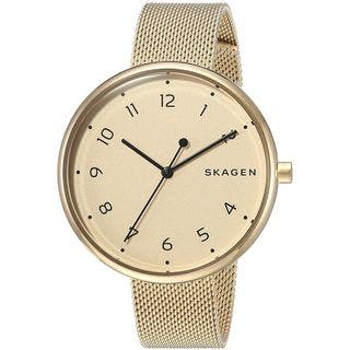 Skagen Women's SKW2625 'Signatur' Gold-Tone Stainless Steel Watch|https://ak1.ostkcdn.com/images/products/16079283/P22464413.jpg?impolicy=medium
