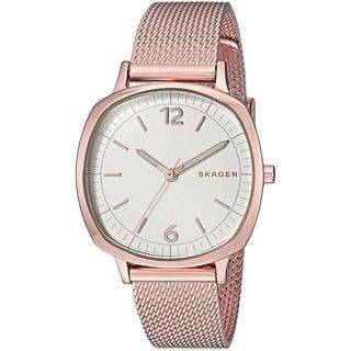 Skagen Women's SKW2629 'Rungsted Mini' Rose-Tone Stainless Steel Watch|https://ak1.ostkcdn.com/images/products/16079284/P22464412.jpg?impolicy=medium
