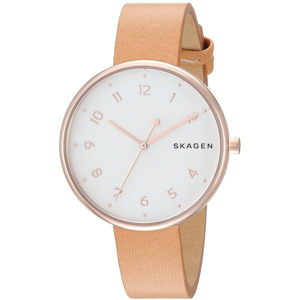 1d6ed16d5 Shop Skagen Women's 'Signatur' Brown Leather Watch - Free Shipping ...