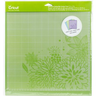 Cricut Adhesive Back Cutting Mats 12X12 3/Pkg-Green, Blue & Purple